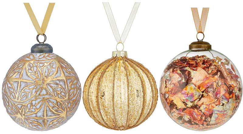 Gold & Copper Christmas Baubles 2018