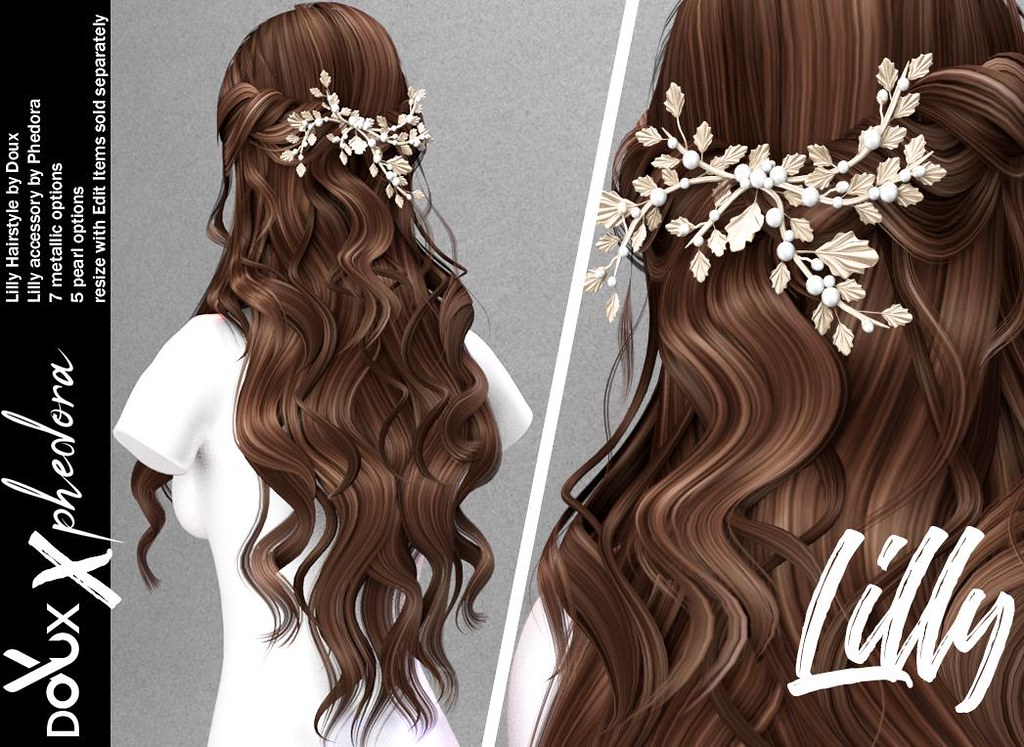 "Phedora. x DOUX Collab for Equal10 Event – ""Lilly"" Hairstyle & Hairpiece (items sold separately)"