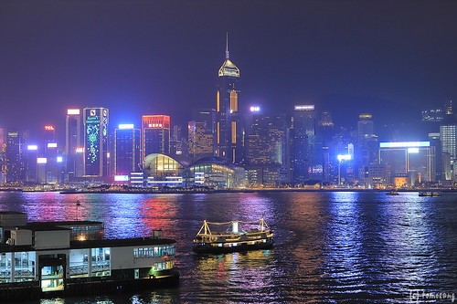 Victoria Harbour at Night