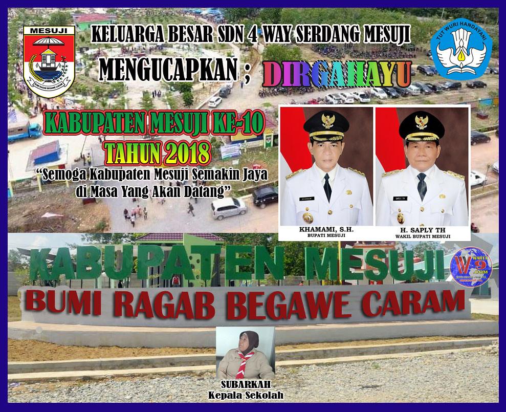 Keluarga Besar SDN 4 Way Serdang: Dirgahayu Kabupaten Mesuji Ke-10