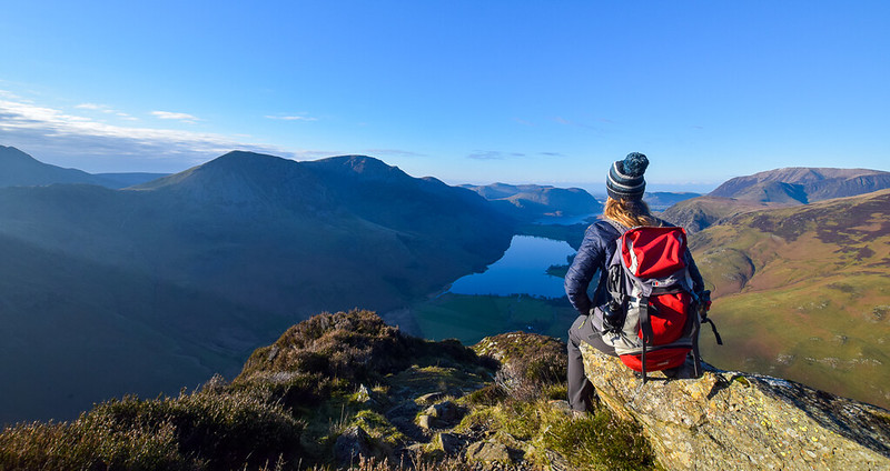Borrowdale walks via Fleetwith Pike Lake District