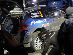 Suninen at Service on Monte-Carlo Rally