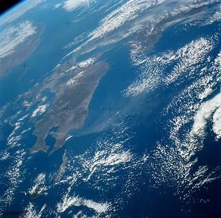 View of Island of Kyushu, Japan from Skylab. Original from NASA. Digitally enhanced by rawpixel.