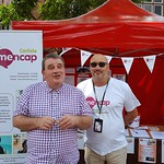 Phil & Ian Air on Mencap stall Unity