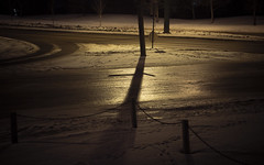 Road, Ice, Snow and Shadows by fulldeckvisuals