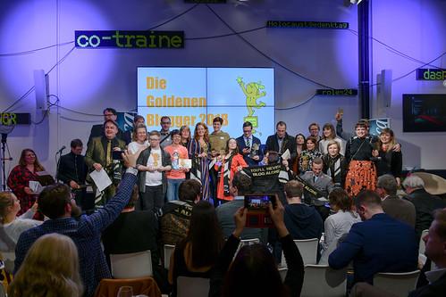 Verleihung Goldener Blogger im Telefónica Basecamp