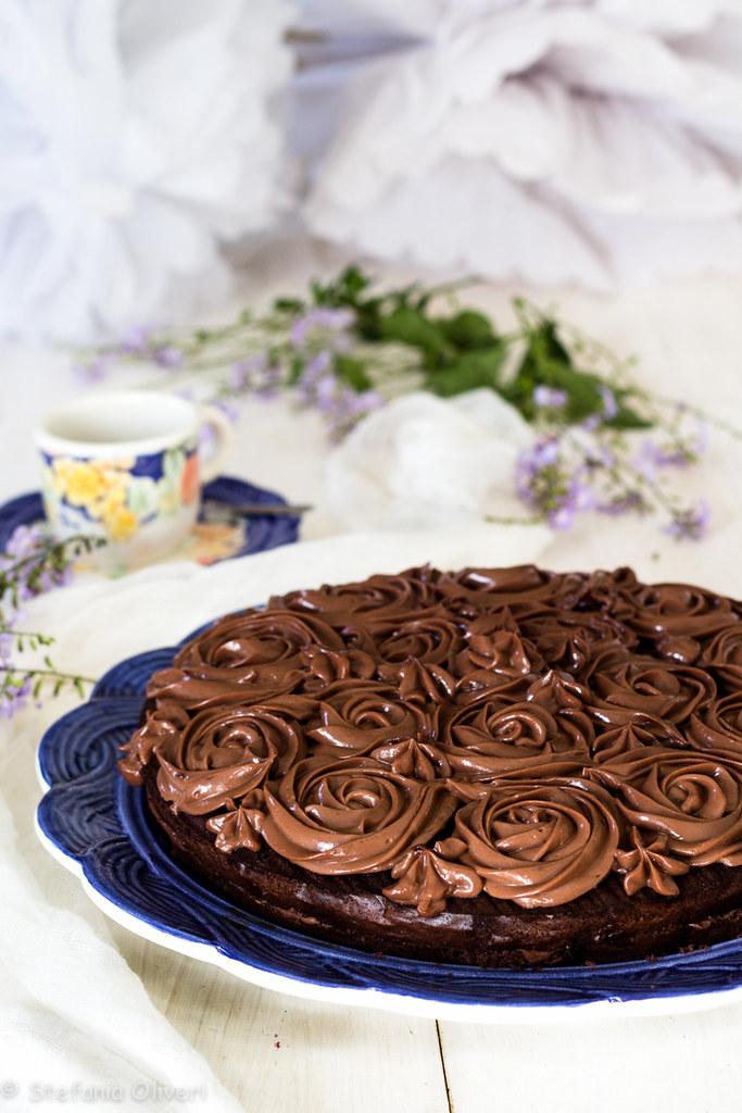 Torta con crema alla Nutella e mascarpone senza glutine-9803