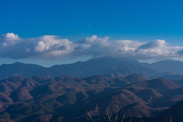 瑞牆山・金峰山も雲がとれない