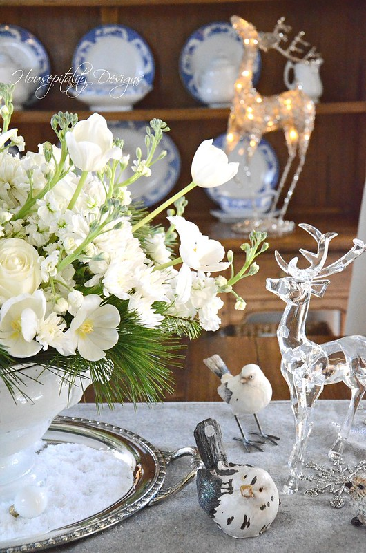 White Christmas Centerpiece-Housepitality Designs