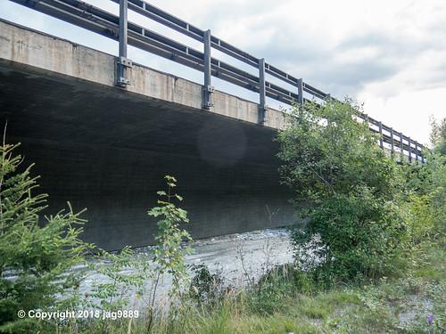 RHE172 Motorway A13 Road Bridge over the Hinterrhein River, Sils im Domleschg - Thusis, Canton of Graubünden, Switzerland