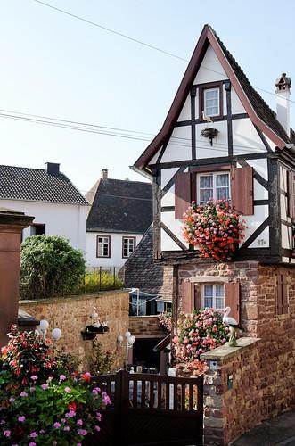 Maison étroite en Alsace