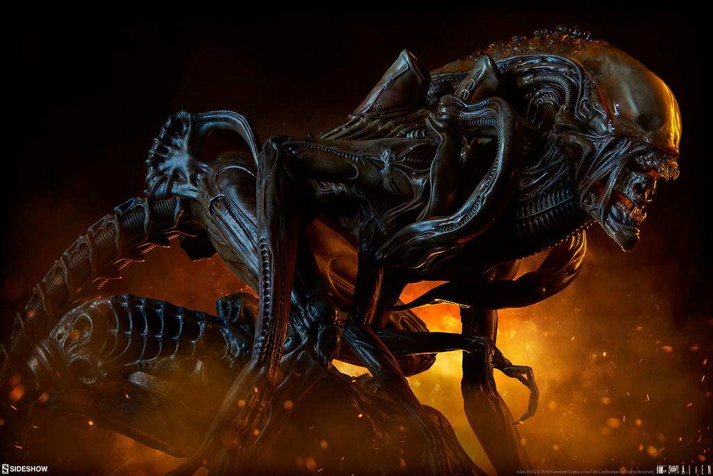 狩獵本領大提升,恐懼再進化! Sideshow Collectibles Mythos Maquette《異形》異形戰士 Alien Warrior 全身雕像作品