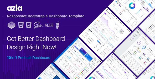 Azia v1.1 - Responsive Bootstrap 4 Dashboard Template