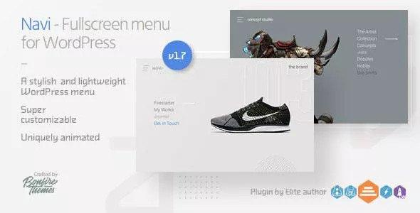 Navi v1.7 - Fullscreen WordPress Menu