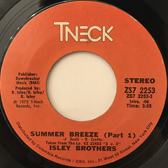 ISLEY BROTHERS:SUMMER BREEZE(LABEL SIDE-A)