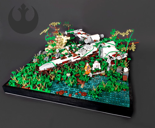 Star Wars - Crashed X-Wing Fighter on Yavin IV