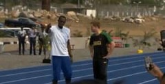 Usain Bolt trolls by Prince Harry | VIDEO
