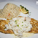 Snapper Hemingway - Parmesan encrusted, lump crab & lemon shallot butter, coconut ginger rice