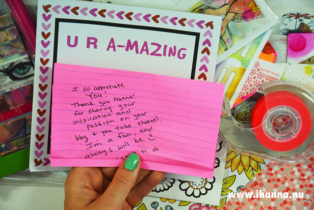 U R A-mazing note from Jenny to me