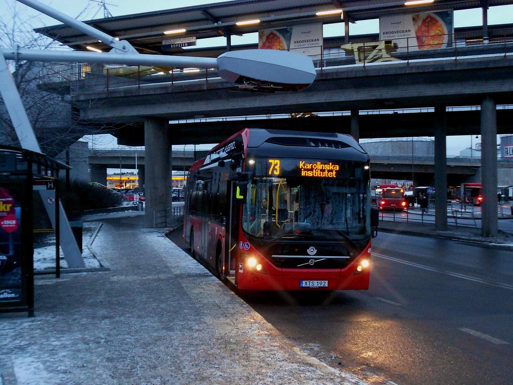 Место зарядки электроавтобусов