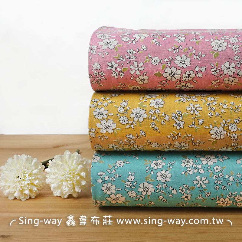 雛菊花語 滿版繁花 碎花 花草 大自然 手工藝DIY布料 CA450772