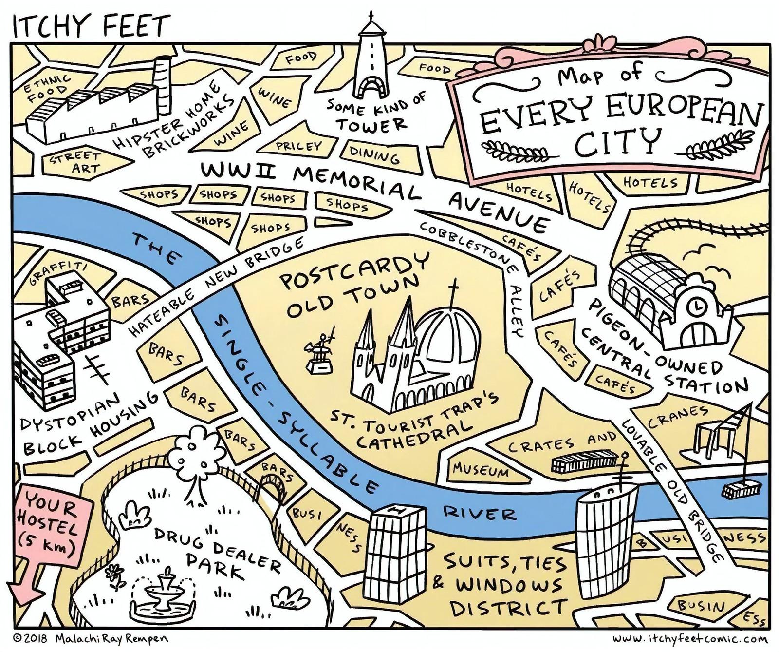 Любой европейский город