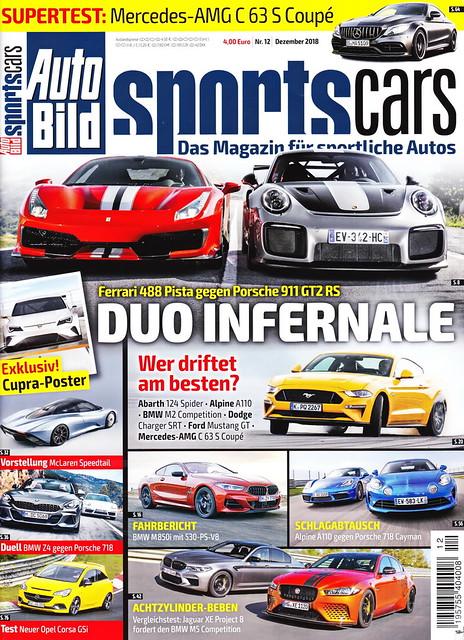 Auto Bild Sportscars 12/2018
