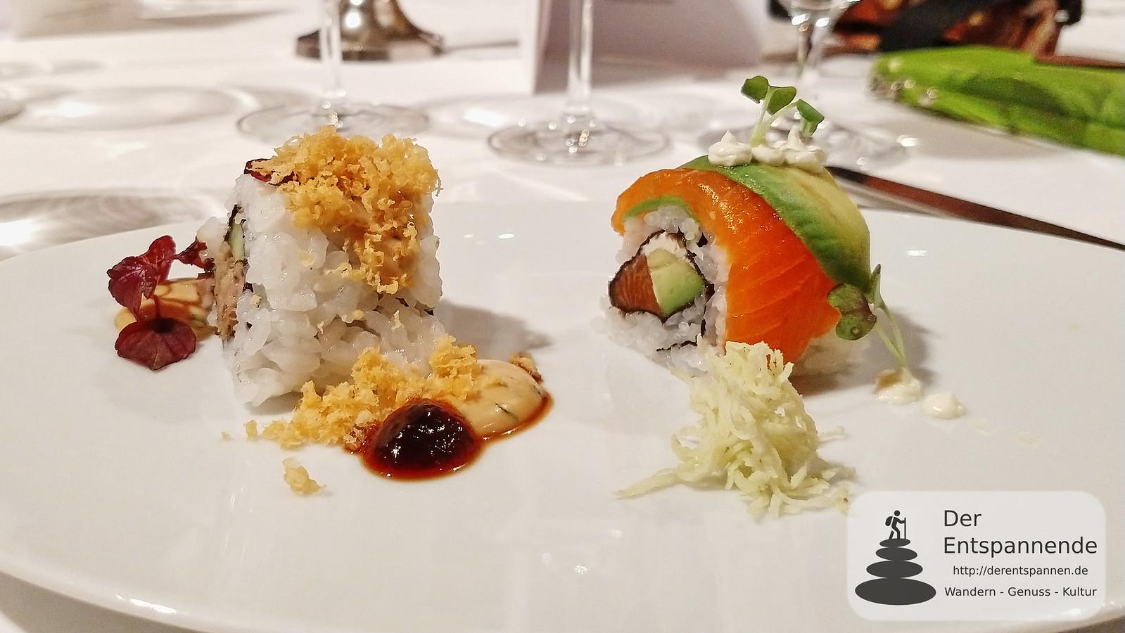 "Menü im Restaurant Erbprinz: Sushi ""California Style"""