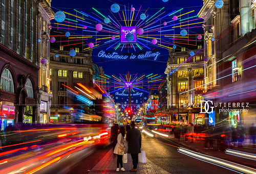 Christmas is calling - Oxford Street, London, UK