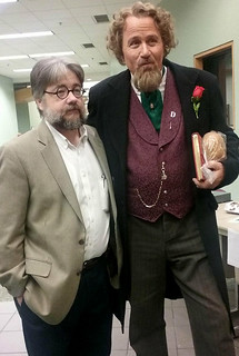 Mon, 12/17/2018 - 14:21 - GCC History Professor Derek Maxfield with Mike Randall in his Charles Dickens role