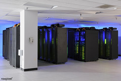 """The heart of the NASA Center for Climate Simulation (NCCS) is the """"Discover"""" supercomputer. Original from NASA. Digitally enhanced by rawpixel."""