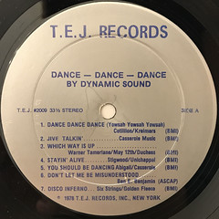 DYNAMIC SOUND:DANCE DANCE DANCE(LABEL SIDE-A)