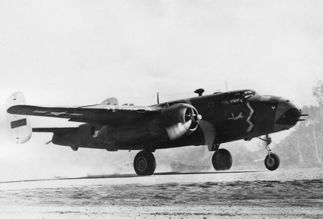 B-25 Impatient Virgin takes off