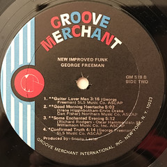 GEORGE FREEMAN:NEW IMPROVED FUNK(LABEL SIDE-B)
