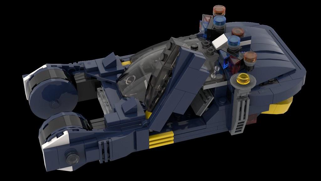NO BRICKS Blade Runner Spinner 1982 Inspired LEGO CUSTOM INSTRUCTIONS ONLY
