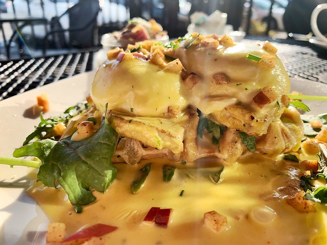 the Benedict Arnold (eggs benedict on a waffle)