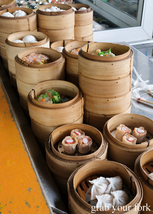 Dumpling baskets at Super Dim Sum in Phuket Thailand