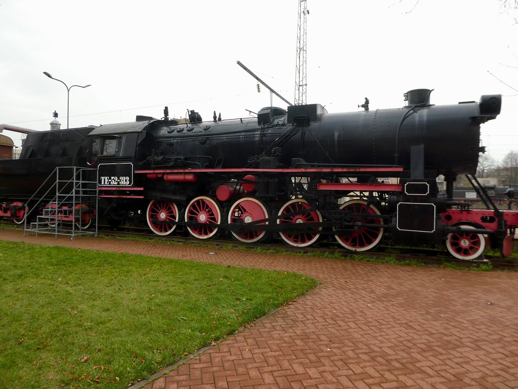 Steam Engine on display at Vilnius Railway Museum