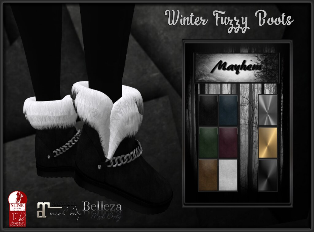 Mayhem Winter Fuzzy Boots AD