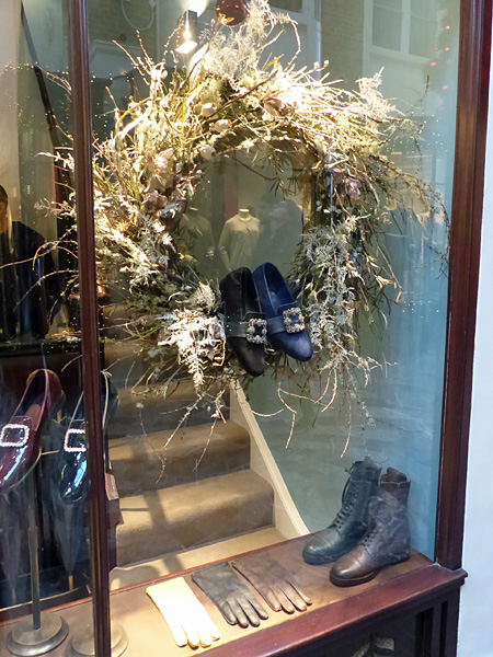 wreath and shoes