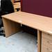 Oak panel desk E115