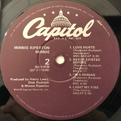 MINNIE RIPERTON:MINNIE(LABEL SIDE-B)