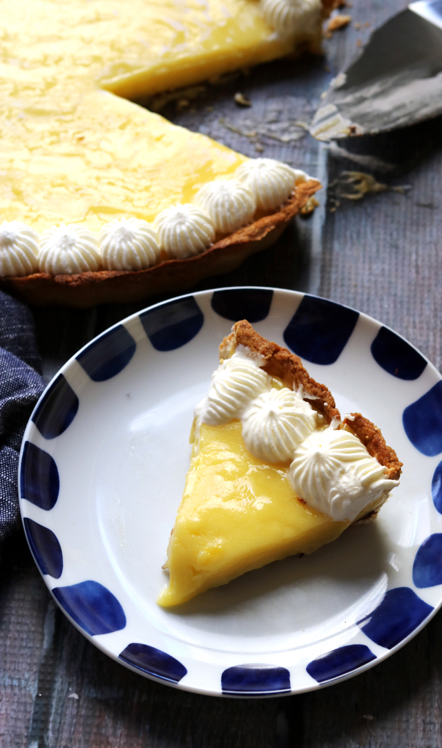 Meyer Lemon and Chocolate Tart