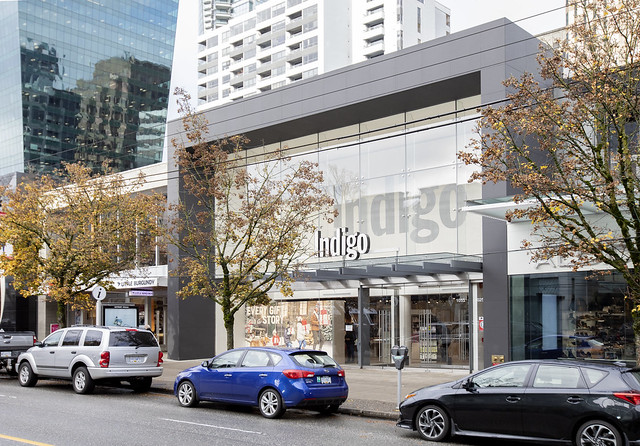 Indigo's on Robson Street in Vancouver
