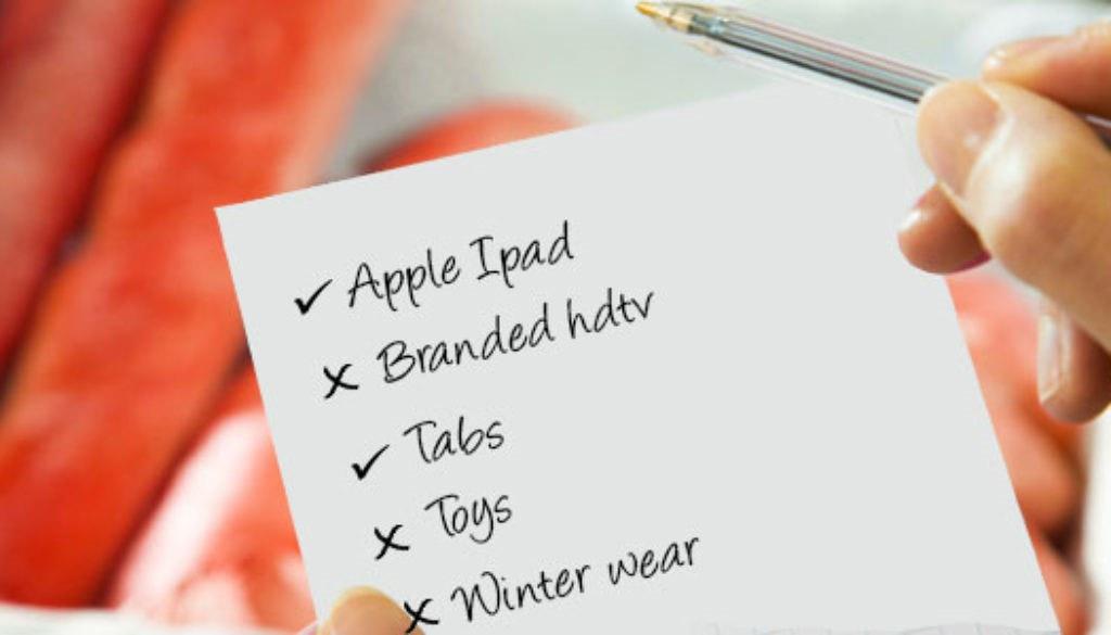 Creating a shopping list