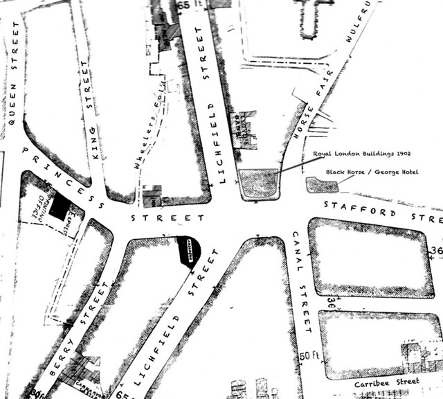 Borough of Wolverhampton, Scheme under The Artisans' and Labourers' Dwellings Improvement Act 1875. Plan showing mode of laying out of the area.