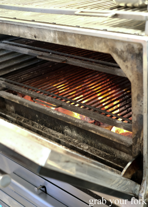 Josper oven fuelled by charcoal at Bert's in Newport by Merivale
