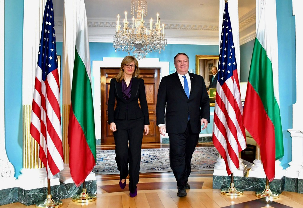 Secretary Pompeo Meets with Bulgarian Deputy Prime Minister Zaharieva in Washington