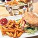 tofu burger at légumes, stockholm, sweden, nov 14, 2018