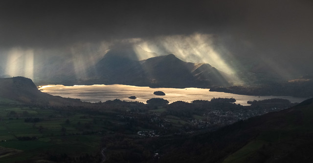 Derwent Water and Cat Bells from Blencathra